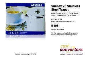 Sunnex 2ℓ Stainless Steel Teapot