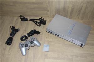 PS2 silver console