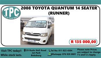 2008 Toyota Quantum 2.7 Ses fikile