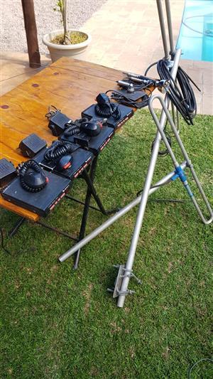 4 x Bantam PX 2-way radio's