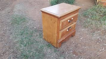 Wooden 2 drawer stand for sale