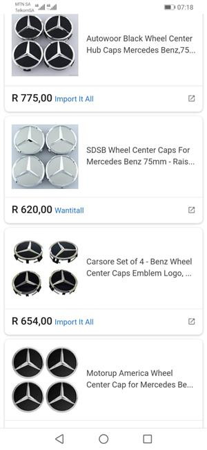 benz wheel centre caps
