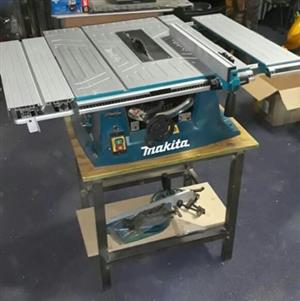 Makita table saw with stand