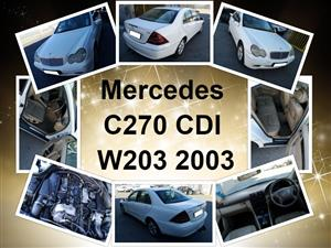 Mercedes C270 CDI W203 2003 stripping for spares.