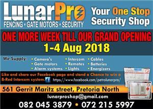 Opening in ONE week!! LunarPro