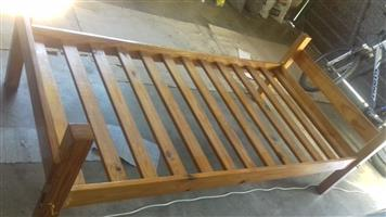 Single wooden bed for sale
