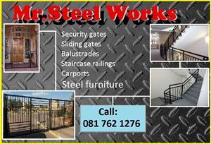 Security gates; Sliding gates; Railings; Balustrades and playground equipment