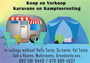 koop en verkoop karavane in ruilings welkom asook koop en verkoop karavaan tente