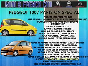 USED PARTS FOR SALE ON PEUGEOT 1007,3008