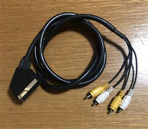 Scart to AV cable in and out connections 1.5m long