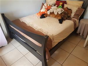 Queen Size Bed for sale + Mattress + Mattress protector