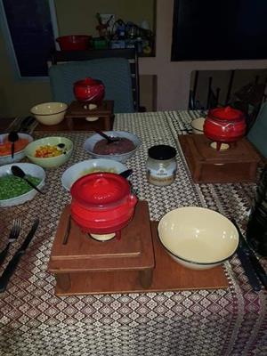 Swart POTJIE fondue stelle