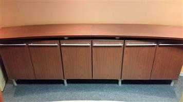 Cherry finish sideboard