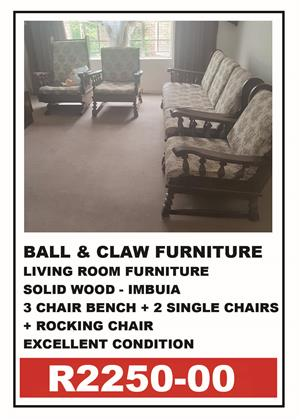 BALL & CLAW LIVING ROOM FURNITURE