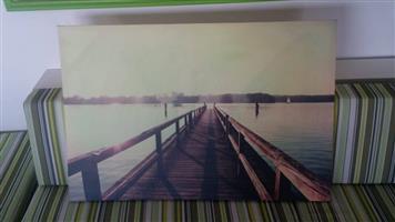 Dock bridge canvas print