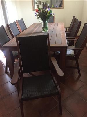 8 seater outdoor table and chairs for sale.