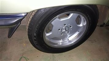 Mercedes AMG mags and tyres (Price reduced)