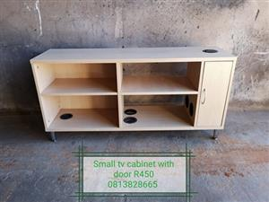 TV stand with door and shelves