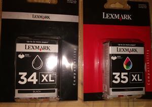 Lexmark 34 XL Black Cartridges and Lexmark 35 XL Colour Cartridges