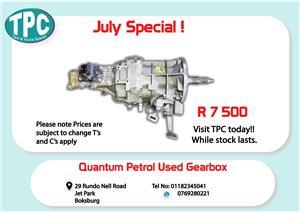 Toyota Quantum Petrol Used Gearbox for Sale at TPC