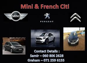 Clutch spares for sale at Mini and French for citroen