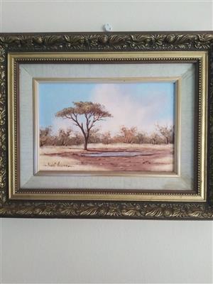 Original André Vorster oil painting For sale