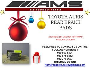 CHRISTMAS SPECIALS !!! TOYOTA AURIS BRAKE PADS FOR SALE (REAR)