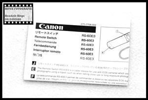 User Manual - Canon RS-60E3 Remote Switch
