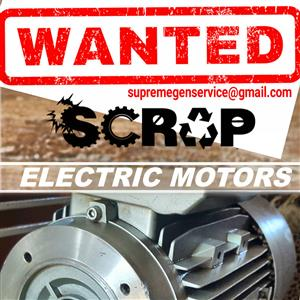 Electric Motors Pool Pumps WANTED