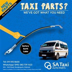 NEW Battery Earth Cable suitable for Nissan NV350 Impendulo - SA Taxi Auto Parts quality spares