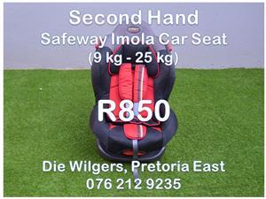 Second Hand Safeway Imola Car Seat (9 kg - 25 kg)