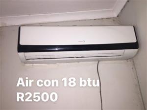 18 Btu aircon for sale