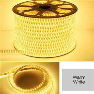 LED Strip Light / Rope Light: Warm White Colour 100metres Roll 220Volts.