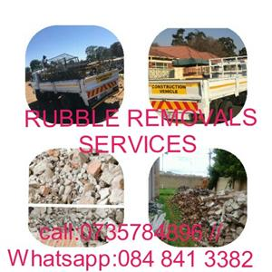 Rubble Removal Services: & Trucks for Hire : call:073 578 4896 :what'sapp 084 841 3382