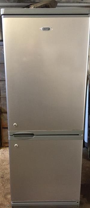 Silver Defy 260L fridgefreezer for sale.