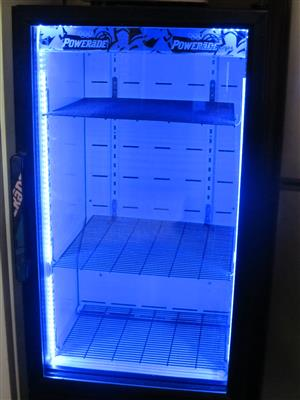 Powerade display fridge with blue led's 200L