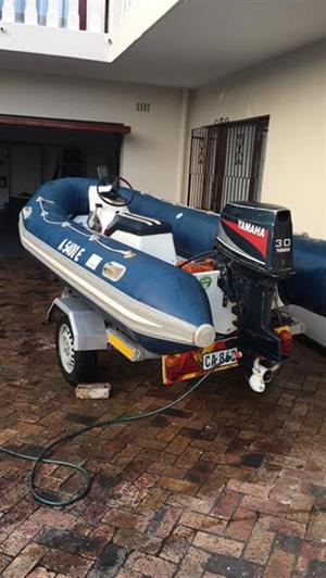 4,1m rubber duck boat