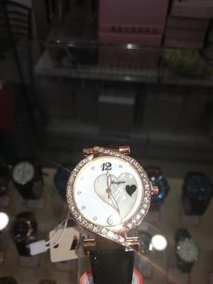 Brown strap studded watch for sale