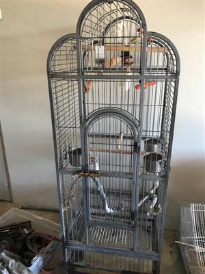 Parrot cage, Heavy Duty model, powder coated