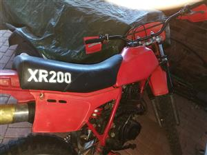 Looking for a Honda XR200r for spares
