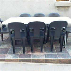 Affordable tables and chairs for hire