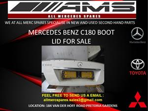 MERCEDES BENZ C180 BOOT LID FOR SALE