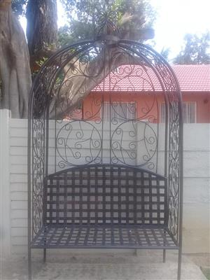 Large arched garden bench for sale
