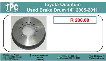 """Toyota Quantum Used Brake Drum 14"""" 2005-2011 For Sale"""