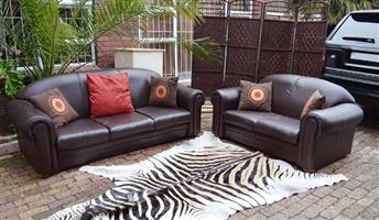 Genuine Leather 2pc Lounge suite