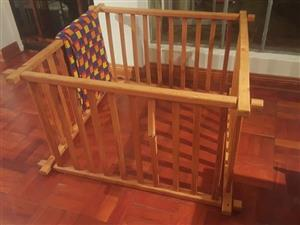 Wooden kids play pen