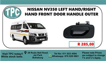 Nissan NV350 Left Hand/Right Hand Front Door Handle Outer - For Sale at TPC