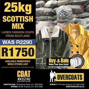 Buy the Scottish Mix (ladies jackets) bale and save R540!