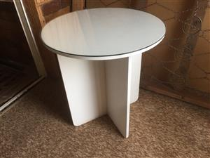Round table for sale with glass top