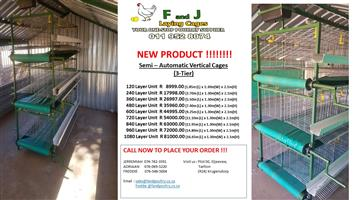 Layer Cages  - New Semi - Automatic Vertical Cages